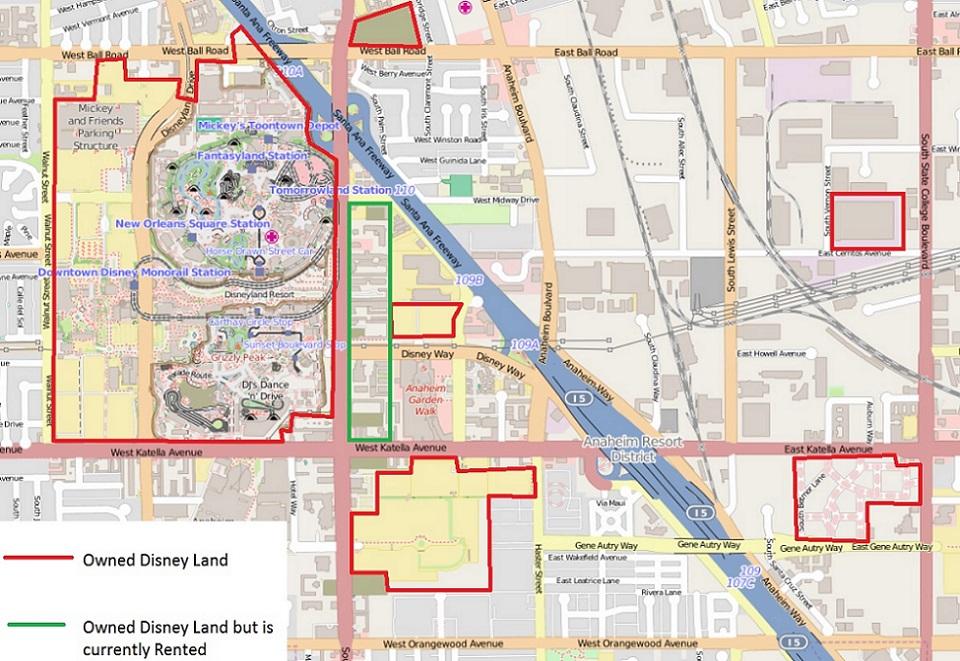 Disney Properties Map on