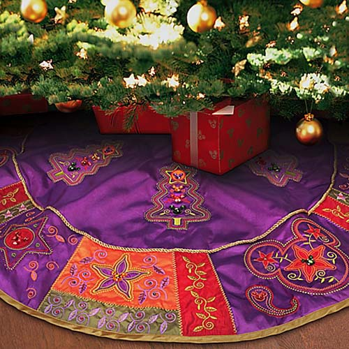 question bohemian holiday tree skirt and stockings