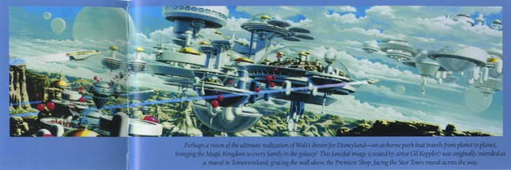 Westcot tomorrowland 2055 concept art micechat for Disneyland mural