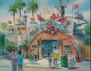 Artist rendering of Mullholland Madness re-theme to Goofy's Sky Skool - as seen on Disneyland CastTV.