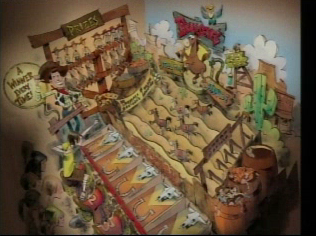 Artist rendering of the re-theme of Games of the Boardwalk game.  As seen on Disneyland CastTV.
