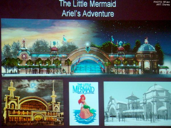 Photo of Disney concept art of The Little Mermaid attraction.