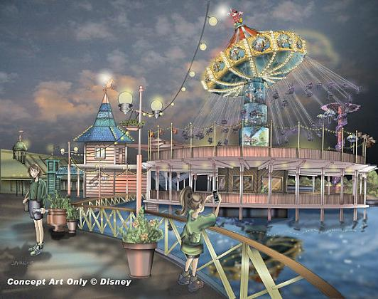 Artist rendering for Silly Symphonies Swings.  Copyright Disney