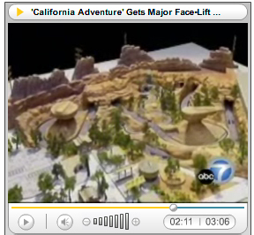 Radiator Springs Racers and Carsland model overview as seen on ABC7.