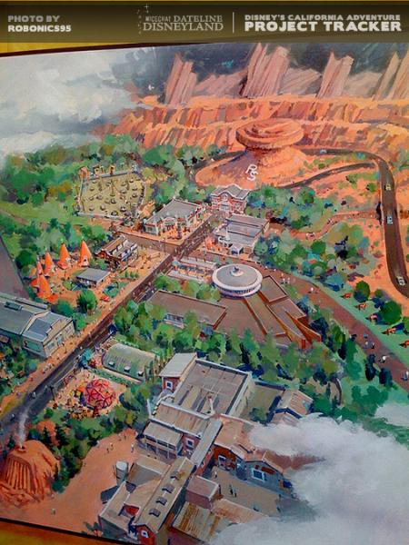 Photo of Cars Land rendering.  Photo by ROBONICS95.