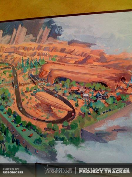 Photo of Cars Land concept art.  Photo by ROBONICS95
