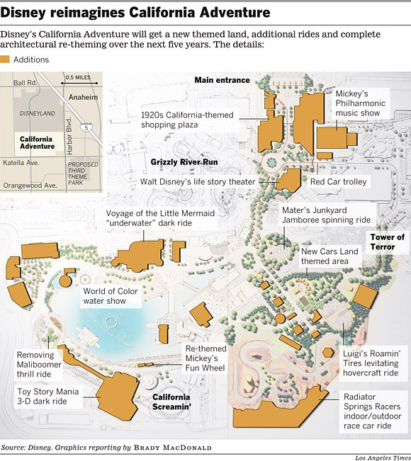 DCA Expansion map from the Los Angeles Times.