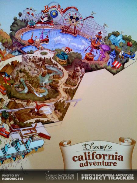Detail of new DCA park map.  Photo by ROBONICS95.