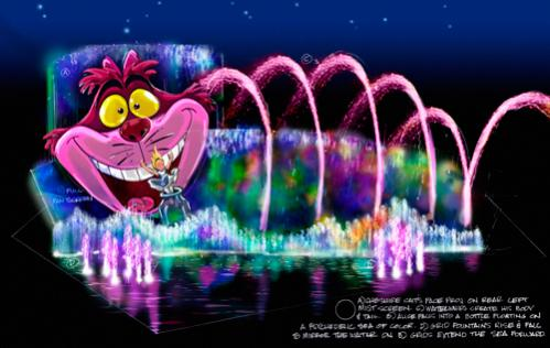 Disney's World of Color - Show scene concept.  