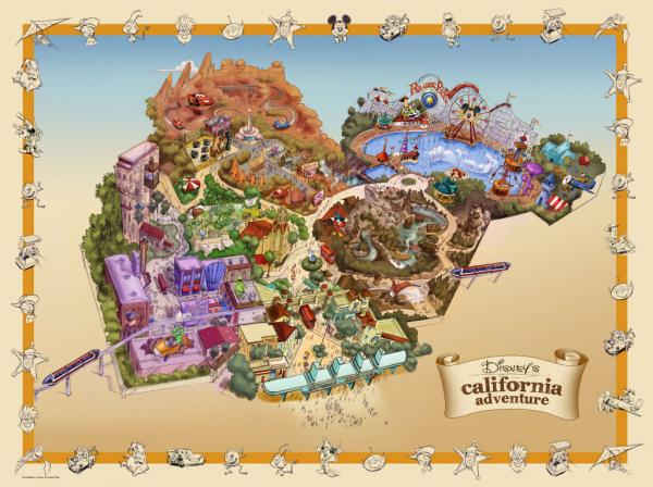 "Disney's California Adventure ""Fun Map"" - includes all additions planned through 2012.  � Disney"